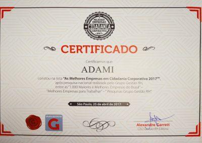 certificado adami